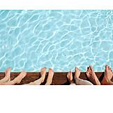 Feet, Swimming Pool, Pool Edge