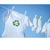 Ecologically, Drying, Recycling, T, Shirt, Clothesline, Laundry