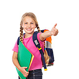 Girl, Enthusiastic, School Child