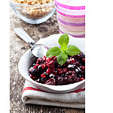 Cereal, Berries, Pudding