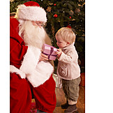 Toddler, Santa clause, Christmas present