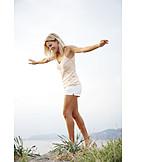 Frau, Sorglos & Entspannt, Balance