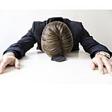 Geschäftsmann, Erschöpfung, Stress & Belastung, Resignation