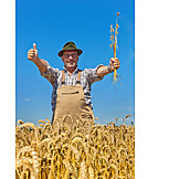 Satisfied, Harvest, Farmer, Cereal Crops