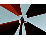 Symbol, Hand, Abstract