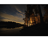 Outdoor, Camping, Stars sky