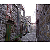 Alley, Stone house