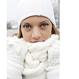 Young Woman, Woman, Winter, Scarf, Winter Clothing