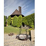 Fire pit, Castle courtyard, Castle smolenice