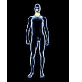 Halsschmerzen, Nackenschmerzen, Medizinische Grafik