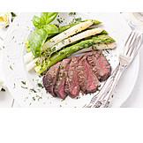 Asparagus, Meat Dish, Asparagus