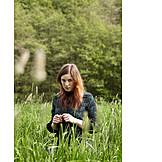 Woman, Meadow