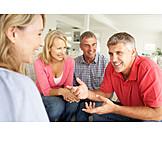 Meeting & Conversation, Friends, Couple, Tell
