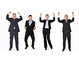 Geschäftsfrau, Geschäftsmann, Erfolg & Leistung, Business