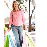 Frau, Einkauf & Shopping, Einkaufen, Einkaufsbummel