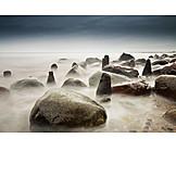 Coast, Rocks, Stimmungsvoll