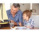 Grandson, Grandfather, Fun & Games, Scale Model