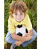 Boy, Soccer, Cross, Legged