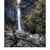 Waterfall, Lainbachfall, Lainbach