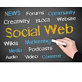 Medien, Tafelbild, Social Network, Social Web