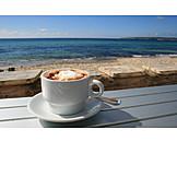 Sea, Coffee, Coffee cup