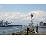 Telecommunications tower, Hamburger hafen, Radar station
