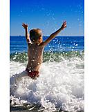 Junge, Welle, Freiheit & Selbstständigkeit