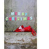 Letter, Deco, Merry Christmas