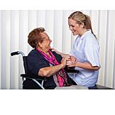 Care & Charity, Old Nurse, Care, Nursing Service