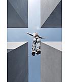 Man, Hope & religion, Flying, Crucifixion