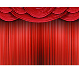 Stage, Curtain, Theater