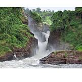 Waterfall, Wildlife reserve, Murchison falls, Murchison falls national park