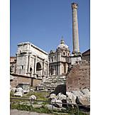 Forum romanum, St lukas church, Arch of septimius severus