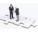 Teamwork, Contract, Business Partnership, Deal