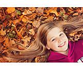 Girl, Autumn, Autumn Leaves, Autumn