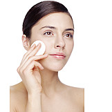 Beauty & Cosmetics, Young Woman, Removing Make Up