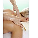 Entspannung, Behandlung, Massage, Nackenmassage