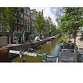 Urban life, River, Amsterdam