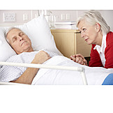 Pflege & Fürsorge, Krankenhaus, Patient, Krankenbesuch