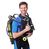 Diver, Oxygen bottle, Diving equipment