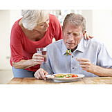 Senior, Paar, Pflege & Fürsorge, Krank, Ehepaar