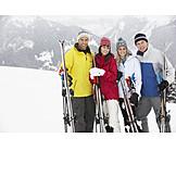 Ski vacation, Skiers, Friends, Clique