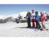 Family, Ski vacation, Skiers