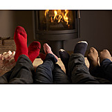 Comfortable, Heating, Fireplace, Winter evening