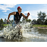 Sports & Fitness, Sportsman, Athlete, Triathlon, Open Water Swim