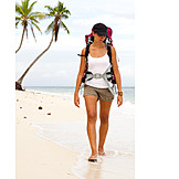 Young Woman, Holiday & Travel, On The Move, Tourist, Backpacker