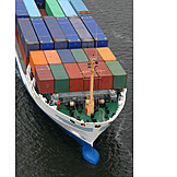 Container ship, Container ship, Goods transport