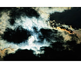 Cloudscape, Sky Only, Moon, Full Moon, Dramatic
