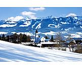 Village, Winter, Ofterschwang