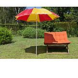 Garden, Parasol, Garden Chair